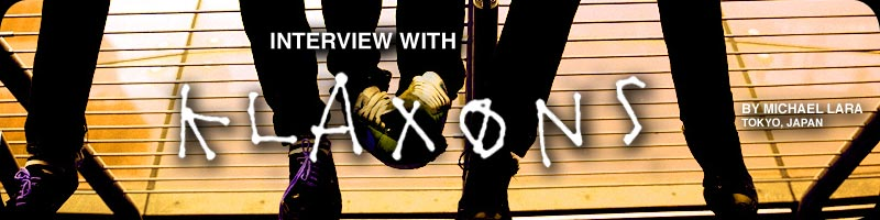 Interview with Klaxons