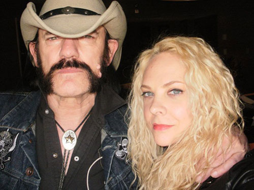 Lemmy Kilmister and Sarah Myers
