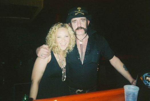Sarah Myers and Lemmy Kilmister